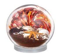 Made In Washington - Glass Eye Studio - Blown Glass Sea Globe - Volcano