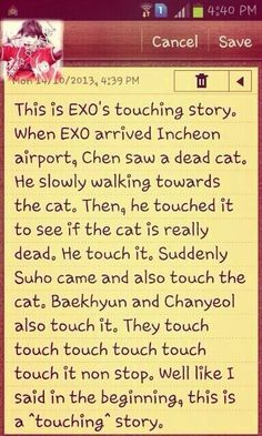 Please Read This EXO'S TOUCHING STORY!!