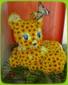Фигурки животных из цветов мастер класс