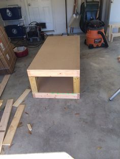 The beginning of the washer & dryer pedestal I'm building girl my son & his fiancé