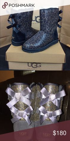 Cheetah Print Ugg Boots With Bows Fairly new, good condition and only worn twice UGG Shoes Winter & Rain Boots
