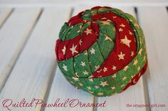 TUTORIAL Quilted Pinwheel Ornaments Complete by ornamentgirl