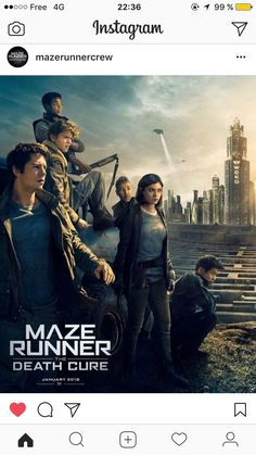 New Death Cure poster!!! Look at Newt's hair