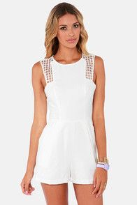 Finders Keepers Here We Go Ivory Romper