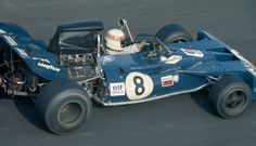 British racing driver Jackie Stewart drives the Elf Team Tyrrell Tyrrell 003 Ford Cosworth DFV to finish in 5th place in the 1971 United States Grand...
