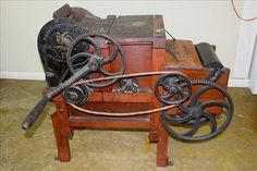 Very rare 10 saw cotton gin made in Bridgewater MA, floor model in excellent working condition, ca. 1905 by Continent. on Jan 2017 East Bridgewater, Cotton Gin, Ms, Auction, Flooring, Antiques, How To Make, Massachusetts, Model