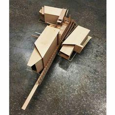 by public spaces Concept Board Architecture, Architecture 101, Architecture Model Making, Wooden Architecture, School Architecture, Model Building, Futuristic Architecture, Deconstructivism, Model Sketch