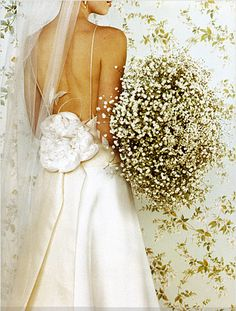 Gorgeous baby's breath #bouquet