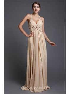 A-Line/Princess V-neck Sleeveless Floor-Length Ruffles Chiffon Dresses - Prom Dresses - Occasion Dresses - QueenaBelle 2017