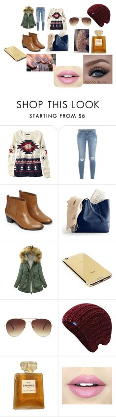 """alaska"" by saraham1 ❤ liked on Polyvore featuring American Eagle Outfitters, Frame Denim, Warehouse, Goldgenie, Forever 21, Keds, Chanel and Fiebiger"