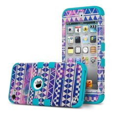 Amazon.com: ULAK iPod Touch 5 Case,iPod Touch 6 Case,Hybrid Hard Pattern with Silicon Case Cover for Apple iPod Touch 5 6th Generation (Purple Tribal/Neo Red): Cell Phones & Accessories