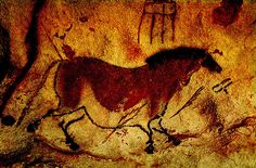 Lascaux wall painting. (Horses are the most common painted animal.)