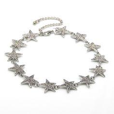 Boho retro handmade estrela de cristal choker colar vintage oco out coração flor chocker colares para as mulheres charme da cadeia de jóias em Colares gargantilha de Jóias & Acessórios no AliExpress.com   Alibaba Group