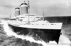 The SS United States was built in 1952 and designed by William Francis Gibbs to capture the trans-Atlantic speed record. Credit: SS United States Conservancy