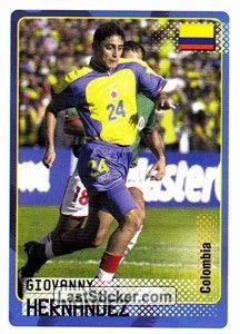 Sticker 67: Giovanny Hernandez - Panini Road to the FIFA World Cup 2002 - laststicker.com el principe...