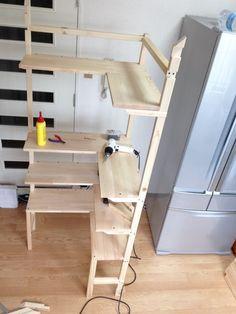 f:id:ll1a9o3ll:20140901151351j:plain Wood Lamps, Diy Organization, Wood Design, Carpentry, Cupboard, Wood Projects, Shed, New Homes, Woodworking