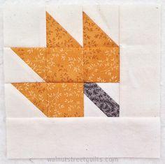 Fall Leaf quilt label tutorial @Walnut Street Quilts