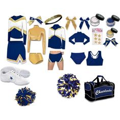 Blue and Gold Cheerleading(: Cheer Outfits, Sporty Outfits, Cute Casual Outfits, Cheer Costumes, Cute Halloween Costumes, Cheerleading Uniforms, Cheerleading Outfits, Black Cheerleaders, Legally Blonde