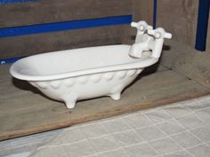 Vintage Fine Ceramic Gilchrist Soames Of London Claw Foot Clawfoot Bathtub Tub Soap Dish Clawfoot Bathtub Ceramics Vintage