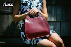 leather bag Floto Pietrini Satchel in Brown