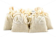 Qdiz Stock Photos | Textile sachet pouches,  #background #bag #bow #burlap #cloth #container #craft #decoration #decorative #fabric #filled #gift #handmade #homemade #isolated #material #package #packaging #packet #poke #pouch #present #ribbon #sac #sachet #sack #small #sparse #textile #white