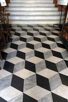 cube pattern floor tile - Google Search