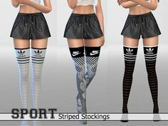 30 Athletic Striped Stockings Pack by Pinkzombiecupcakes at TSR • Sims 4 Updates