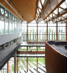 The AMS Student Nest at the University of British Columbia.  B+H Architects and DIALOG. Triple-glazed glass windows.