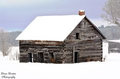 An old log home - long abandoned. Photographed in West Carleton, Ontario
