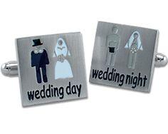 Wedding Day / Wedding Night Cufflinks... ;)