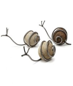 Snails made by wrapping wire