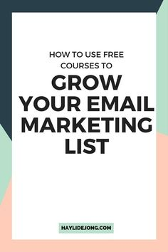 Free email courses are a great way for any blogger or online entrepreneur to jump start their email marketing list. Click through to find out how I use them in my business and how they have grown my list in a huge way PLUS helped me create a passive income