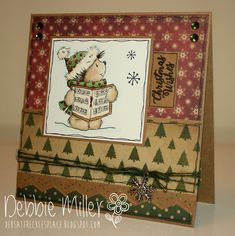LOTV - Carol Singing with Vintage Christmas papers by Debbie Miller Christmas Paper, Winter Christmas, Vintage Christmas, Digi Stamps, Lily Of The Valley, Card Sketches, Gift Tags, Cardmaking, Christmas Cards