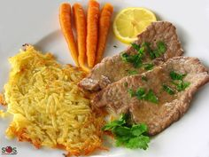 Veal cutlets with lemon juice. This is the way Italian kids are initiated to meat. Veal Cutlet, Veal Recipes, Cravings, Steak, Lemon, Turkey, Beef, Baking, Food