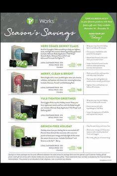 Go to CarrieMKuntz.myitworks.com to order or message me with any questions!