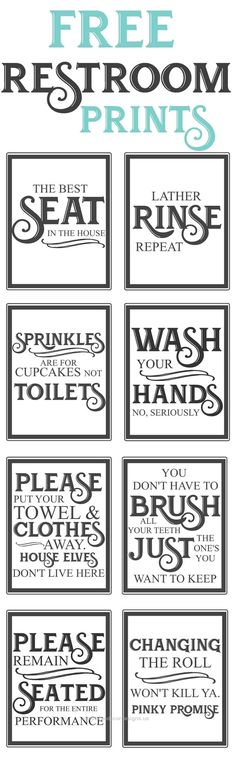 Free Vintage inspired bathroom printables-funny quotes to hang up in the restroo…  Free Vintage inspired bathroom printables-funny quotes to hang up in the restroom-farmhouse style-www.themoun…  http://www.coolhomedecordesigns.us/2017/05/20/free-vintage-inspired-bathroom-printables-funny-quotes-to-hang-up-in-the-restroo/