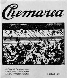Cover van de Roemeense symbolisme en avant-garde tijdschrift Chemarea (The…