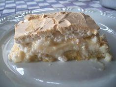Torta de banana com creme e suspiro do Marcelo | Receita - Água na Boca