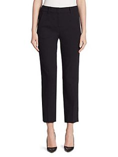 Armani Collezioni - Textured Slim Leg Pants