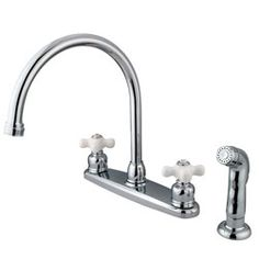 Vintage Chrome Kitchen Faucet and Sprayer   Overstock.com Shopping - The Best Deals on Kitchen Faucets