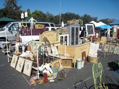 Booth at Rose Bowl Antique Flea Market by mseratt99, via Flickr