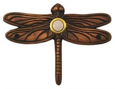 www.gnarlyshopping.com - Dragonfly Decorated Doorbell