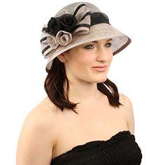Summer 1920s Flapper Sinamay Floral Bow Cloche Bucket Millinery Church Hat Gray SK Hat shop http://www.amazon.com/dp/B00UAXICIY/ref=cm_sw_r_pi_dp_yTvlvb01TANA7
