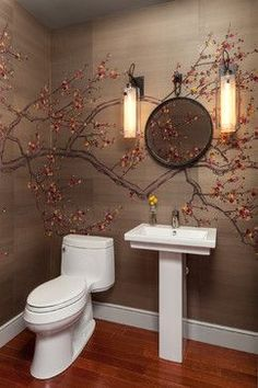 Amazing Cherry Blossom Tree Wall Decal Design Ideas, Pictures, Remodel, And Decor    Page