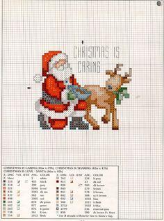 Santa Cross Stitch, Cross Stitch Charts, Cross Stitch Designs, Cross Stitch Patterns, Cross Stitch Christmas Ornaments, Christmas Cross, Cross Stitching, Cross Stitch Embroidery, Family Ornament