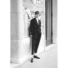 Glass Magazine Model Felix Guesnouin (success models) Photographer David Ferrua,b&w,fashion photography,men's model,