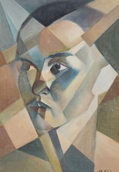 French oil painting abstract cubism signed Alb. Gleizes