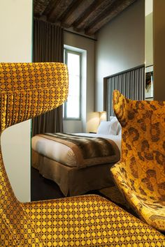 Small room but Grand luxe:  Petit Moulin Paris by Rubelli