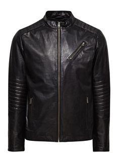 Rio Leather Jacket, Black, large