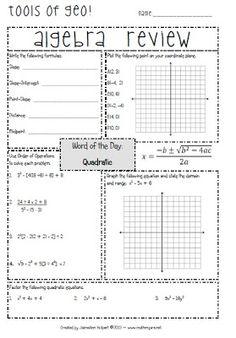 """Math-n-spire: """"Snapshot"""" {Integrated Geometry & Algebra Interactive Student Notebooks, Math Notebooks, Teacher Tools, Teacher Stuff, Math Lab, Teachers Corner, Teaching Math, Maths, Math About Me"""